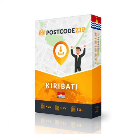 Kiribati Complete Set, best file of streets