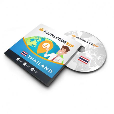 Samoa américaines, base de données des codes postaux