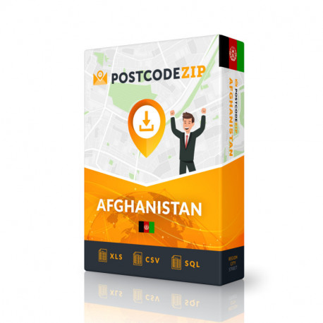 Afghanistan, Ortsdatenbank, Beste Städtedatei