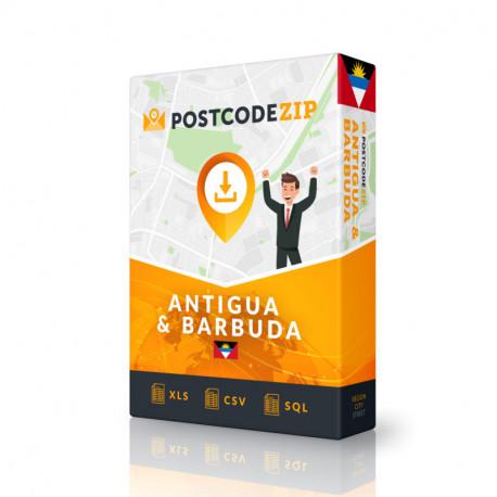 Antigua & Barbuda, Ortsdatenbank, Beste Städtedatei