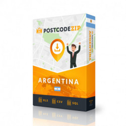 Argentine, base de données des codes postaux