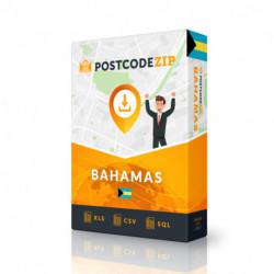 Bahamas, Ortsdatenbank, Beste Städtedatei