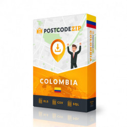 Kolumbien, Ortsdatenbank, Beste Städtedatei