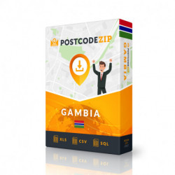 Gambia, Location database, best city file