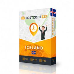 Island, Ortsdatenbank, Beste Städtedatei