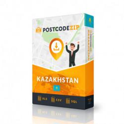 Postcode Nouvelle-Zélande, base de données des codes postaux