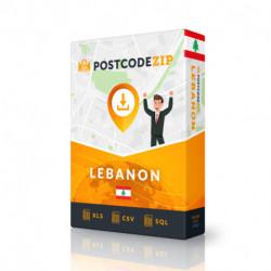 Libanon, Ortsdatenbank, Beste Städtedatei