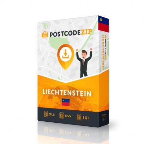 Postcode Palau, postal code database