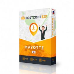 Mayotte, Ortsdatenbank, Beste Städtedatei
