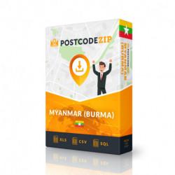 Myanmar (Burma), Location database, best city file