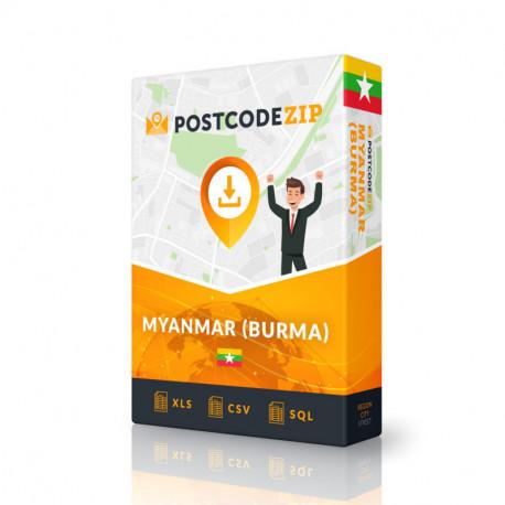 Namibia, postal code database