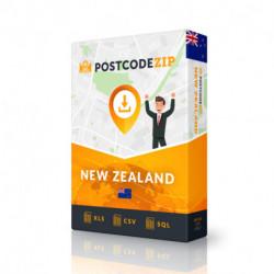 Nouvelle-Zélande, base de données des codes postaux