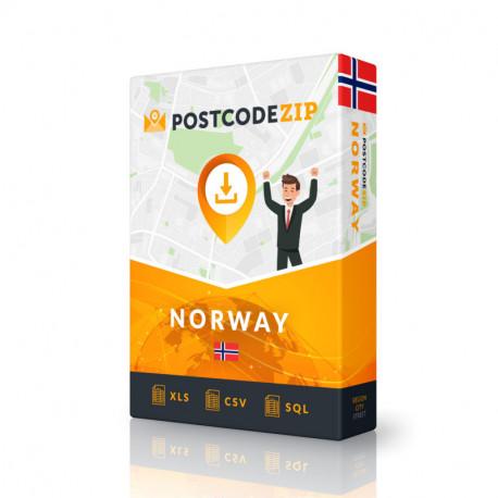 Norwegen, Ortsdatenbank, Beste Städtedatei