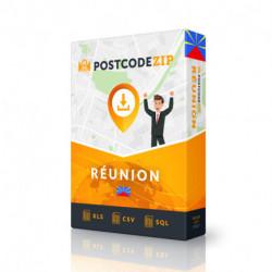 Réunion, base de données des codes postaux