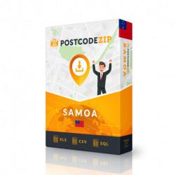 Samoa, Location database, best city file
