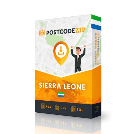 Sierra Leone, Ortsdatenbank, Beste Städtedatei