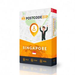 Singapour, base de données des codes postaux