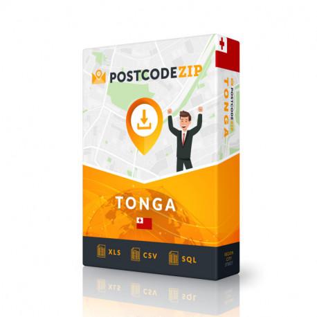 Tonga, base de données des codes postaux