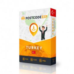 Turkey, Location database, best city file