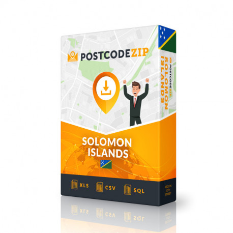 Solomon Islands Complete Set, best file of streets