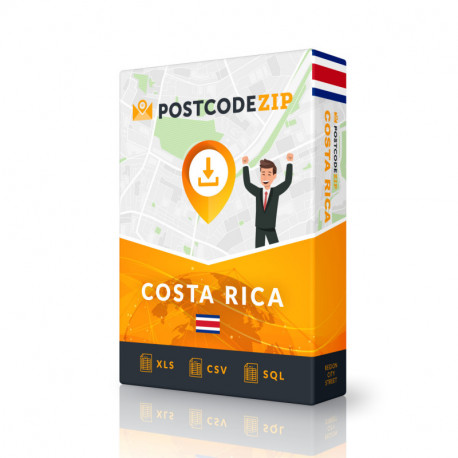 Costa Rica Complete Set, best file of streets