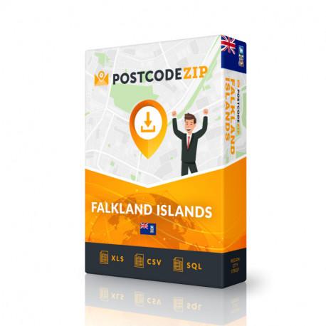 Falkland Inseln, Beste Datei von Straßen, Kompletter Satz