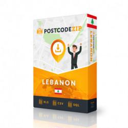 Libanon, Liste von Regionen