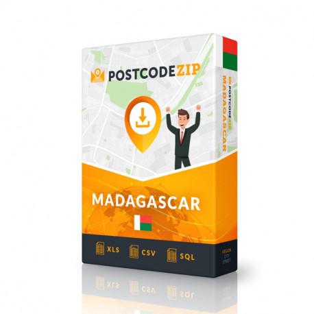 Madagaskar, Liste von Regionen