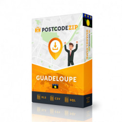 Guadeloupe Complete Set, best file of streets
