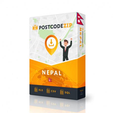 Nepal, Liste von Regionen